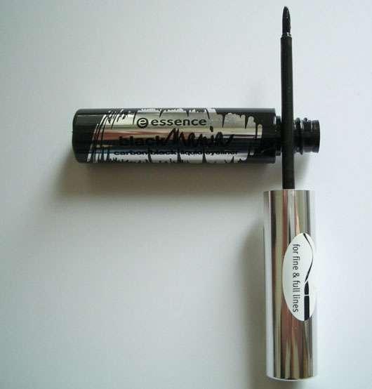 essence blackmania carbon black liquid eyeliner