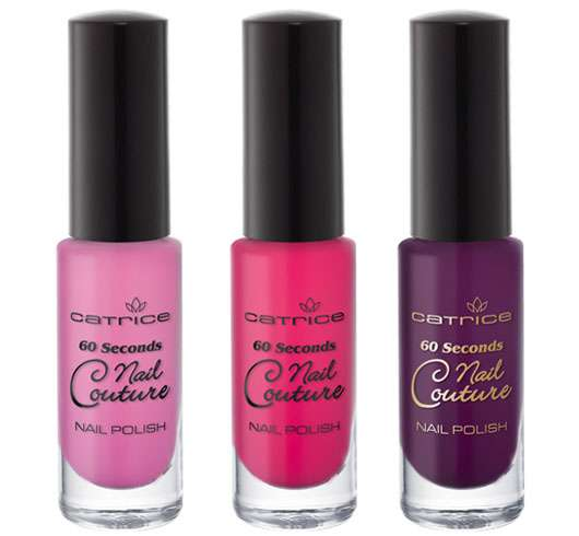 Catrice 60 seconds - Nail Couture (v.l.n.r.: # 250, # 260, # 270), Quelle: cosnova GmbH