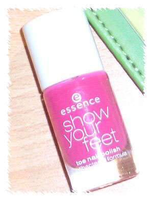Nagellack essence show your feet, Farbe 05 flashy pink