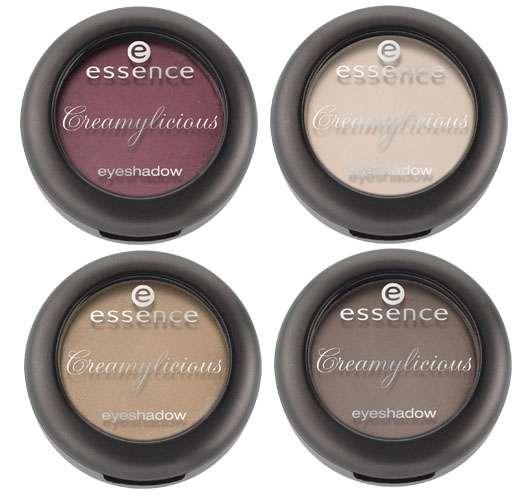 essence creamylicious eyeshadow (v.l.o. nach r.u.: #01, 02, #03, #04), Quelle: cosnova GmbH