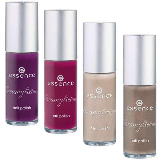 essence creamylicious nail polish (v.l.n.r.: #01, #02, #03, #04), Quelle: cosnova GmbH