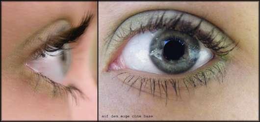 p2 Nostalgic Moments Memories Eyeshadow – 010 Lovely Green auf dem Auge aufgetragen