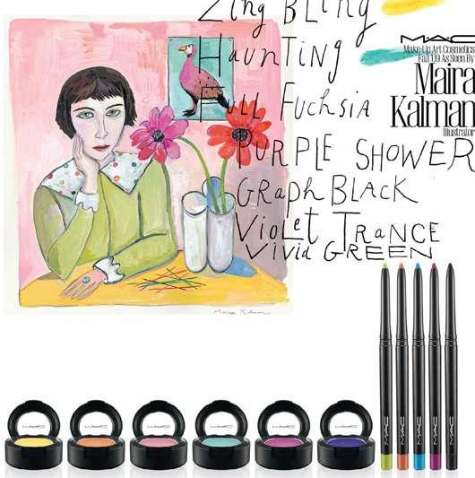 M·A·C Make-up Art Cosmetics Fall '09 as seen by Maira Kalman (Illustrator), Quelle: Estée Lauder Companies GmbH / M·A·C Division