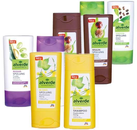 alverde NATURKOSMETIK Haarpflege - neue Produkte, Quelle: alverde NATURKOSMETIK / dm-drogerie markt