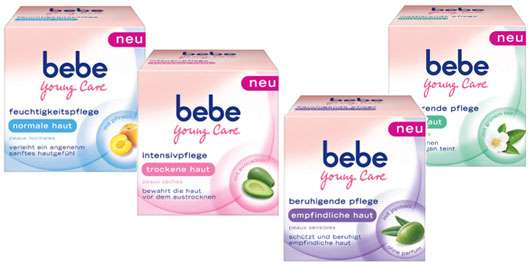 bebe Young Care Gesichtspflege, Quelle: Johnson & Johnson GmbH