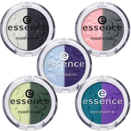 essence duo eyeshadow (oben links: #12, oben rechts: #13, Mitte: #14, unten links: #15, unten rechts: #16), Quelle: cosnova GmbH
