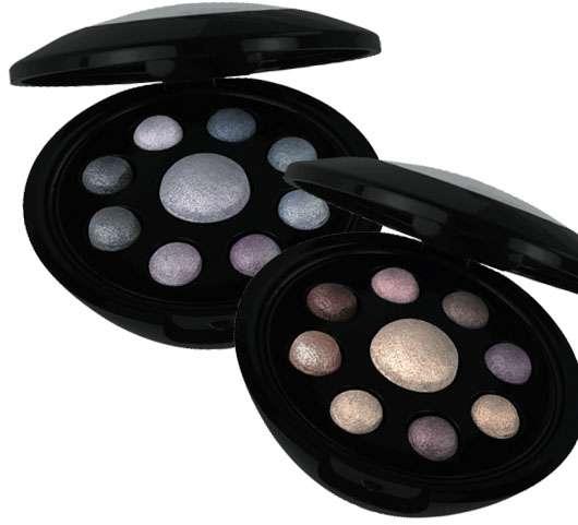"""MANHATTAN Cosmetics """"Winter Pearls"""" (links: Crystal Blue, rechts: Frozen Plum), Quelle: DR. SCHELLER COSMETICS AG"""