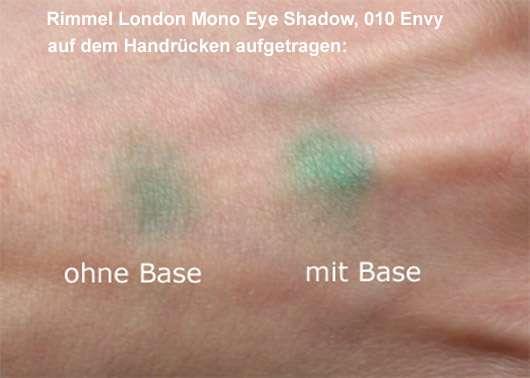 Rimmel London Mono Eye Shadow, Farbe: 010 Envy - Lischattenbase Test