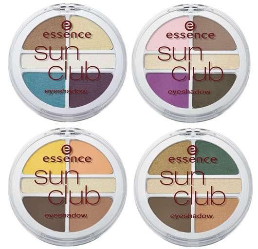 essence sun club quattro eyeshadow  (v.l.o.n.r.u.: #01, 02, 03, 04), Quelle: cosnova GmbH