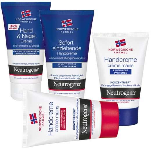 Neutrogena Handpflegeprodukte, Quelle: Johnson & Johnson GmbH