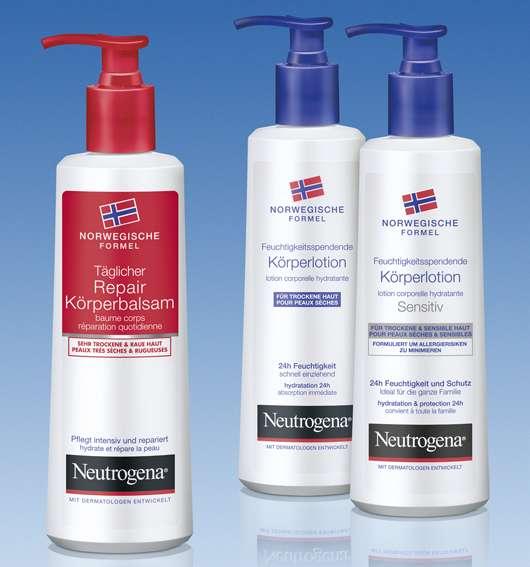 Neutrogena Norwegische Formel — Intensivpflege für die Haut, Quelle: Johnson & Johnson