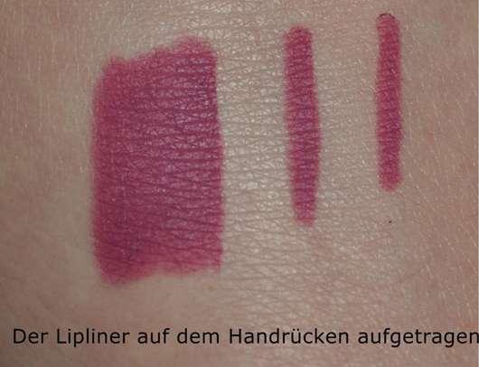 p2 pure last lipliner, Farbe: mauve 11 - auf dem Handrücken aufgetragen