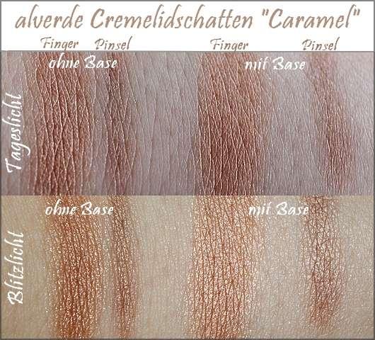 Swatches - alverde Cremelidschatten mit Tigerauge: Farbe 03 Caramel