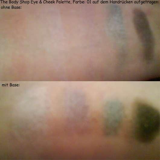 The Body Shop Eye and Cheek Palette , Farbe: 01 - auf dem Handrücken aufgetragen