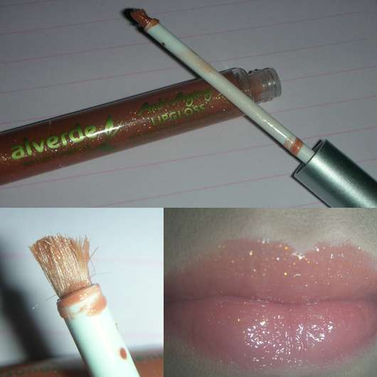 alverde Anti-Aging Lipgloss, Farbe: Iced Mocca