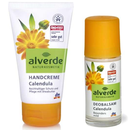 alverde Handcreme Calendula und Deobalsam Roll-on, Quelle: alverde NATURKOSMETIK / dm-drogerie markt