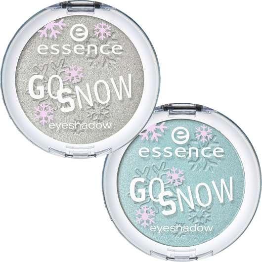 essence go snow eyeshadow (links: #03, rechts: #04), Quelle: cosnova GmbH