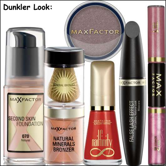 Make-up Look für ein glanzvolles Fest von Max Factor - Dunkler Look, Quelle: Max Factor