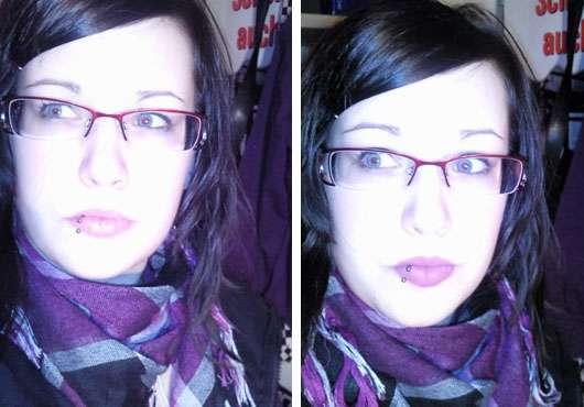 Zum Vergleich einmal ohne/einmal mit Lip Cream von p2: