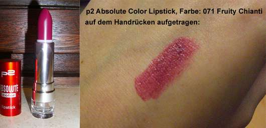 p2 Absolute Color Lipstick, Farbe: 071 Fruity Chianti