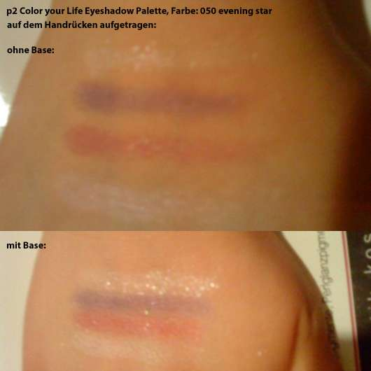 Swatches - p2 Color Your Life Eyeshadow Palette, Farbe: 050 evening star