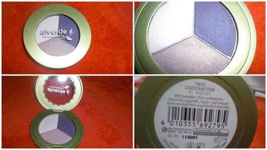 alverde Trio-Lidschatten, Farbe: 31 Violet