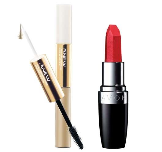 AVON Anew Anti Aging Mascara und Mega Impact Lippenstift