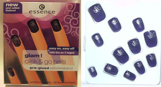 essence glam! click & go nails