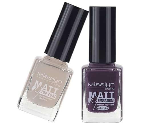 Misslyn Matt Sensation Lacke und Matt Sensation Top Coat