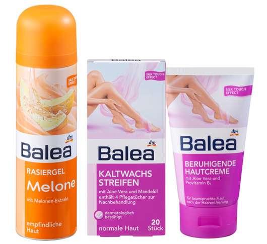 Reibungslos glatte Haut mit Balea
