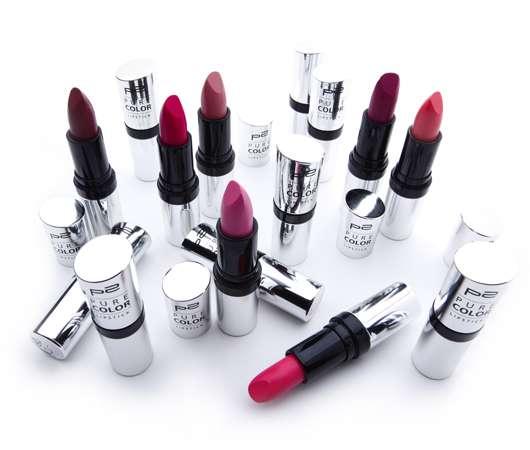 p2 cosmetics pure color lipstick