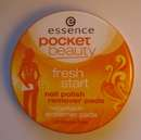 essence pocket beauty fresh start nail polish remover pads