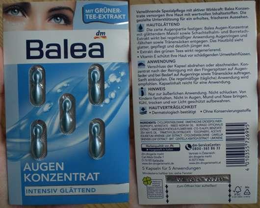"""Balea Augenkonzentrat """"intensiv glättend"""" mit Grüner-Tee-Extrakt"""