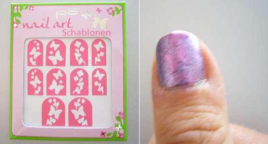 p2 Nail Art Schablonen, 030 Butterfly Garden