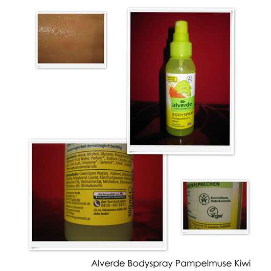 alverde Bodyspray Pampelmuse Kiwi (Limited Edition)