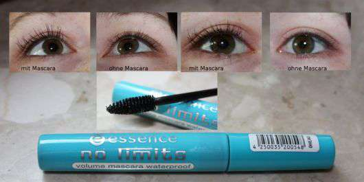 "essence ""no limits"" volume mascara waterproof"