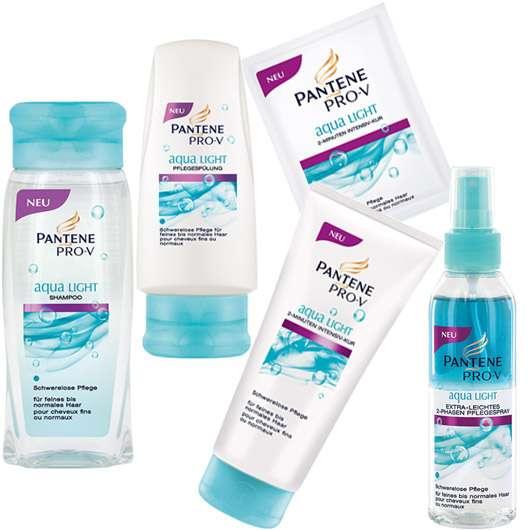 3 x 1 Pantene Pro-V aqua LIGHT Produktset zu gewinnen