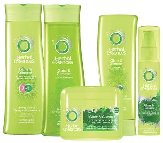 3 x 1 Herbal Essences Glanz & Glimmer Produktset zu gewinnen