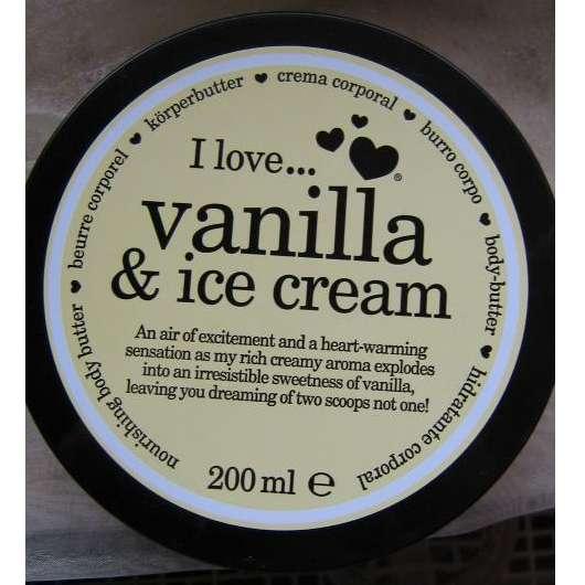 """I Love Cosmetics """"I Love … Vanilla & Ice Cream"""" Bodybutter"""