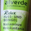 alverde Relax Fuß- und Beingel mit Nanaminze und Rosskastanie