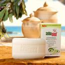 sebamed seifenfreies Waschstück mit Pflege-Substanzen aus Olive