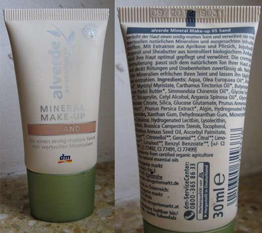 alverde Mineral Make-up, Farbe: 05 Sand