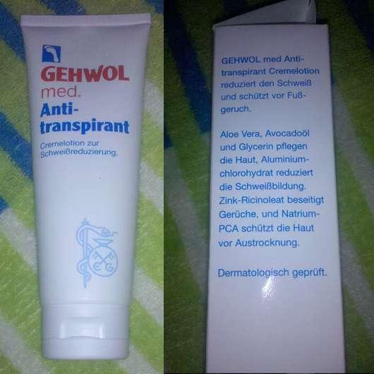GEHWOL med. Anti-transpirant Cremelotion zur Schweißreduzierung