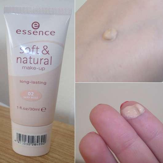 essence soft & natural make up (long-lasting), Farbnuance: 02 sand beige