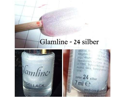 Glamline Nagellack, Farbe: 24 Silber
