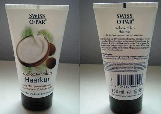 Swiss O Par Kokos-Milch Haarkur (für sprödes, trockenes & normales Haar)