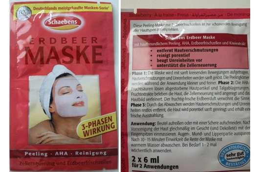 """Schaebens Erdbeer Maske """"3-Phasen Wirkung"""""""