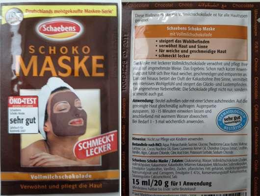 """Schaebens Schoko Maske """"Vollmilchschokolade"""""""