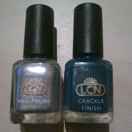 LCN Nail Polish, Farbe: Silber & Crackle Finish, Farbe: Grün