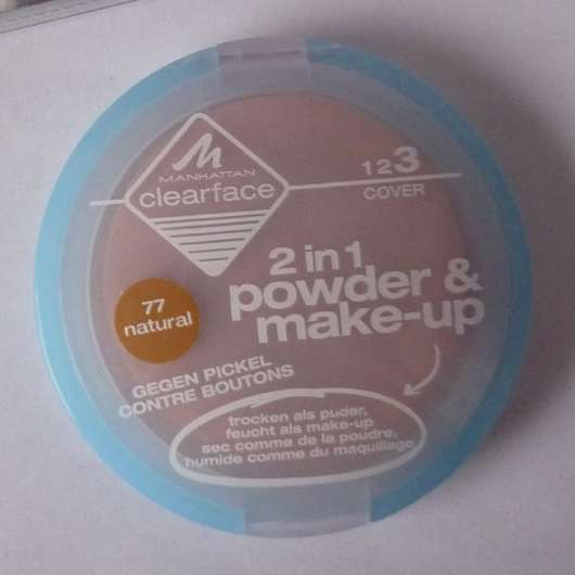 Manhattan Clearface 2in1 Powder & Make-Up, Farbe: 77 Natural